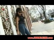 Sultry latina with sexy curves on tight jeans gets fucked