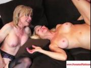 Erica Lauren and Nina Hartley share cock