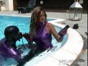 ava blue danni pool strapon part 3