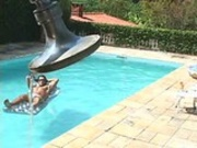 Anne Midori fucking poolside