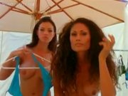 Candice Michelle and Tina Leiu Topless photo shoot