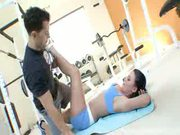 Sophie Dee seduces and blows her trainers hard cock