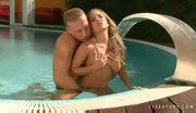 Petite teen Bianca Arden fucked by the pool