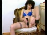 Chubby MILF loves her dildo