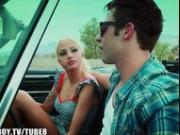 Hot tattoed blonde makes road trips fun