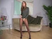 Jenna Haze's pantyhose striptease