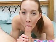 Cute chick upside down blowjob
