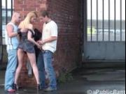 Julie Silver has threesome public sex part5