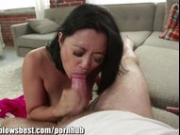 Stepmom Lucky Starr is sucking my best friend's cock!