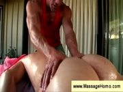 Ass massage following by a rimjob