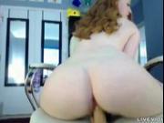 Awesome busty redhead LucyOHara creamy orgasm