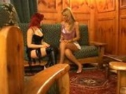 Two Hot Shemales Have Fun With Young Cock.