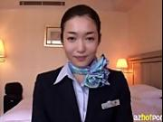 AzHotPorn.com - Hardcore Fuck With Asian Stewardess