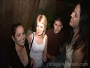 Drunk college slut gets pounded at the party