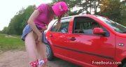 European sex in the car
