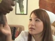 Japanese Nurse Goes To America For Black Cock Part I