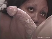 Cock Slurping Ebony Bitch