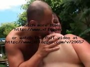 FIT GUY FUCKS BBW IN GARDEN