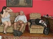 plump gal and older man