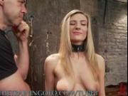 Pretty Blonde Slave Learns How To Fuck Cock The Right Way
