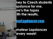 Czech girl lapdances and gets cum in mouth