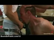 Gay anal toyed and mouth fucked by group of gays