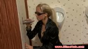 Stacy Silver gets a facial at the gloryhole