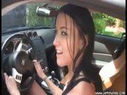 Ashley Grace Hot Handjob in Car