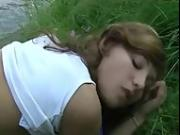 Young Teen Couple Fucks Outdoor