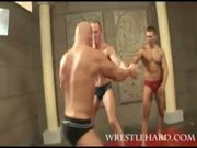Newcomer wrestler orgy