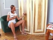 Teen in pigtails blowjob surprise