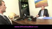 Gay employee seduces his boss to keep his job