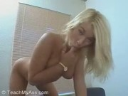 Hot blonde Euro slut gets a POV anal workout