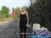 PublicAgent Blonde is fucked on all fours outside in public