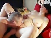 Horny MILF rammed by two men