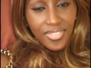 Cynthia, ebony analfucked in a threesome