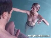 Fucking dads friend in the pool