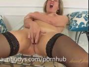 Silky Thighs Lou masturbates for you