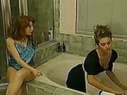 Rich Lady Seduces Maid