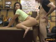 Beautiful babe pounded by pawn keeper at the pawnshop