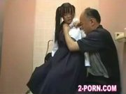 schoolgirl fuck with amateur man in washroom 006