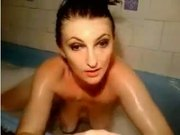 Skinny College Teen Taking Bath Nice Tits