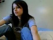 Dark haired webcam girl