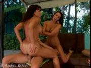 Lisa Ann and Rachel Starr fuck in threesome