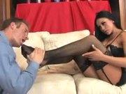 Audrey Bitoni very sexy footjob