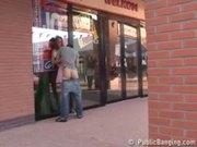 Public public sex by a store window