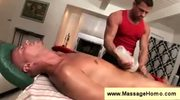 Bald guy pays with a blowjob after massage