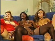 Ebony Slut Licks Black Cock