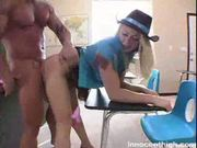 blond teen in cowboy outfit fucked hard by her horny teacher