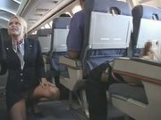 Blond Flight Attendant Fucks Japanese On Plane